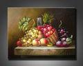 oriental de frutas de pinturas al óleo sobre lienzo para la decoración