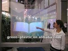 Ventana 27''inch táctil interactiva de papel de aluminio/3d de proyección/espectros de tela