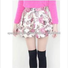 brillante de la moda sexy mini floral de impresión en caliente colegio las niñas faldas cortas