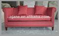 Clásico marco de madera restaurante tela sofá de los muebles franceses sf-2822