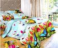 color de la luz mariposa 3d imprimir hoja de cama doble con dos funda de almohada a conjunto