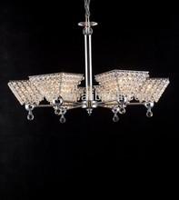 Colgantes de la lámpara araña de prisma de cristal 6 luces cristal