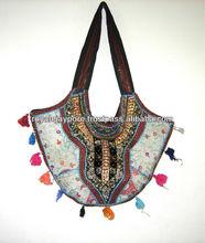 banjara vintage tribal saco bordado etnia cigana handmade hobo saco de ombro