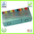 pequeñas cajas de plástico transparente trenes