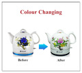 mudando de cor cerâmica ebulição leite chaleira