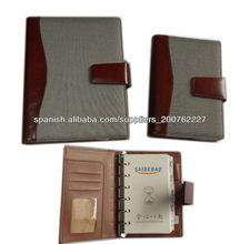 Negocio de cuero notebook organizador