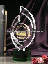 trofeo de cristal para el regalo del negocio