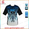 Sublimación 3d personalizados de impresión t- shirt corto