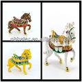 2013 venda quente cavalo pewter caixa de jóias forma de decoração( hsd01884- 003)