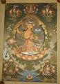 bonito alta qualidade tara verde thangka tibetano artesanal do nepal