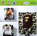 Manta/sabana/alfombra flanela con diseño de camuflaje y hombre-mono