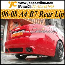06-08 a4 b7 del coche de parachoques trasero del labio b7 lip trasero para audi B7 labio trasero
