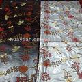 bordado de flores de cuero de la pu para el sofá de