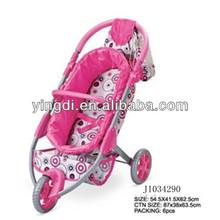 de la rueda 3 precioso cochecito de bebé muñeca de juguete del bebé de aluminio buggy