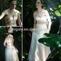 Vestido de novia de la chispa de la cintura un- línea de vestidos vestidos de baile