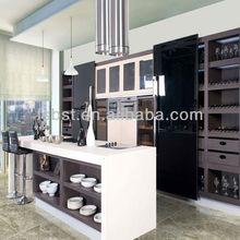 de alto brillo de lujo de la cocina y del gabinete de cocina de lujo ak429 isla