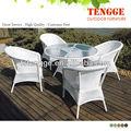 Jardim cadeiras de vime mobiliário de exterior
