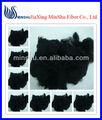 Fibra negra del cortocircuito de la fibra del poliester