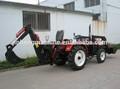 4wd baratos de china 50hp mini tractor con cargador frontal y retroexcavadora