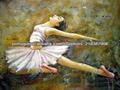 100% feito à mão figurativo pinturas a óleo beautiful girl ballet