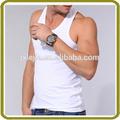 plain white tapas chaleco blanco suelta de algodón tapas chaleco para hombre de la camiseta chalecos
