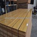 grano de madera melamina slatwall