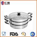 3 capas de acero inoxidable aparatosdecocina olla de vapor para menaje de cocina