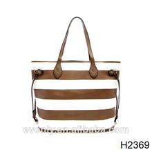 H2369 las ventas directas de totes, de alta calidad pu bolso de mano