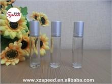 flint 10ml roll en botella de vidrio de cristal con la bola y la tapa de aluminio