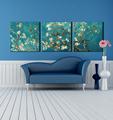 Hermoso sofá pared flor pintura decorativa mural fotos