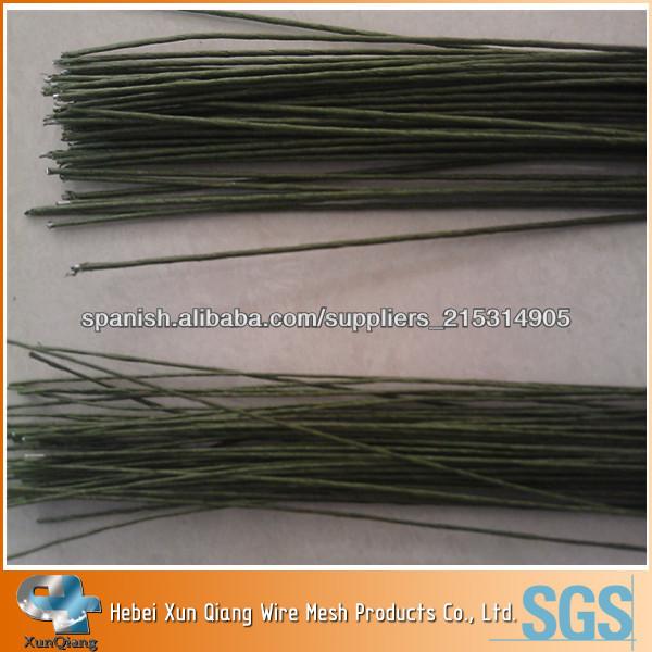 Calibre 18 Libro verde alambre cubierto (el uso de la flor del arte) / 32cm cortar alambre tallo largo