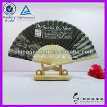 regalos promocionales de fuzhou de bambú plegables ventilador