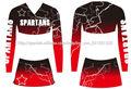 Nuevo diseño de encargo del equipo cheereading uniforme