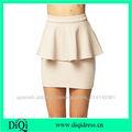 señoras sexy peplum oficina faldas faldas Una falda bodycon skirt jersey belleza line
