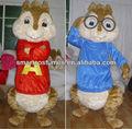 alvin y las ardillas de adultos ardillas traje de la mascota ardillas alvin y las ardillas de vestuario