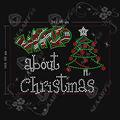 el árbol de navidad con motivos de diamante de imitación de transferencia para la ropa
