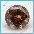 de alta calidad ahumado corte redondo brillante sueltas piedras de la cz