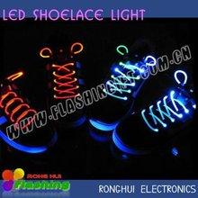 Venta al por mayor LED parpadeante cordones de los zapatos