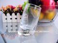 2014 diseño único claro bottomed oblicua de aguardiente de taza de vidrio 50ml/1.7oz( fábrica de vidrio)