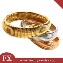 De acero inoxidable multi pulsera de oro de diseño para los hombres& damas de la moda pulsera de oro
