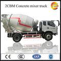 4*2 nuevo diseño de alta- eficiencia 2m3 diesel pequeño mezcladoras de concreto para la venta/pequeño camión mezclador