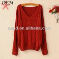 acrílico baratos el último nuevo estilo suéter coreano para el invierno