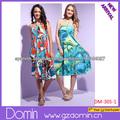 Nuevo diseñador de la Rodilla-Longitud del hombro Off Hermoso vestido de dama de la moda
