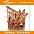 Alta calidad 100% Pure Naturaleza Hecho a mano Vintage larga vieja canasta de pan francés sauce - French Baguette Basket