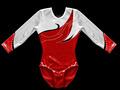 """""""ángel rojo """"niñas formación de ballet leotard gimnástico traje"""