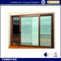 ventanas de aluminio con persianas construido en el interior de vidrio doble con balanceo arriba de las persianas