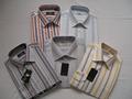 venta al por mayor camisa de rayas baratos para los hombres