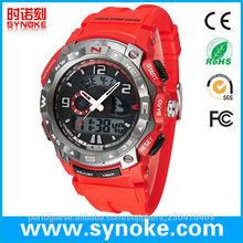 CE / ROHS Pulseira Exercício relógios logotipo impresso ânion relógio esportivo silicone