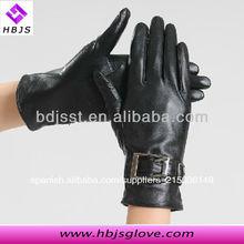corto de las señoras de cuero de cabrito guantes de londres
