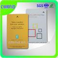 Pvc 13.56 mhz iso 15693 i código de tarjetas rfid para miembros/la promoción